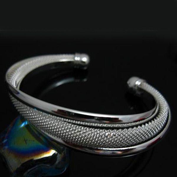 الجملة - التجزئة أدنى سعر هدية عيد الميلاد ، وحرية الملاحة ، جديد 925 الفضة الأزياء سوار B47
