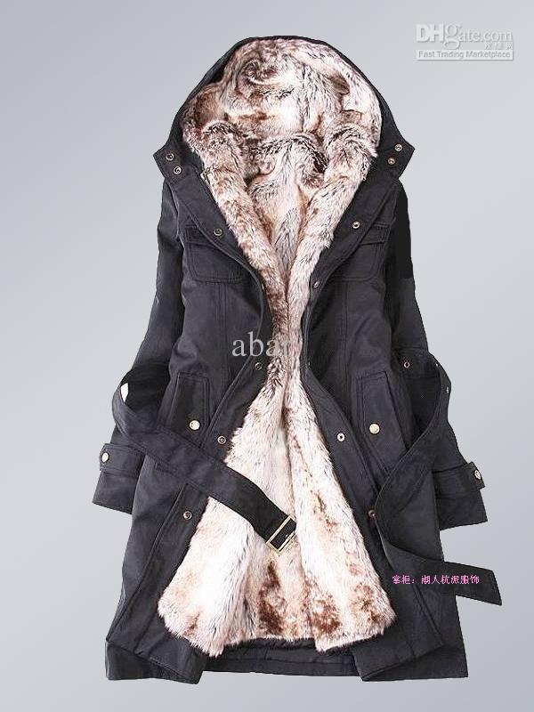 New Womens Thicken Fleece Coat Jacket Womens Outerwear Size S/M/L ...
