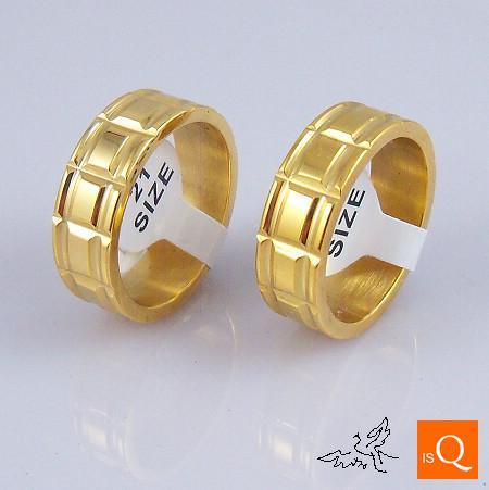 lotto 18K GP anello placcato oro anello piacevole anello in acciaio inox anelli gioielli moda raffinata