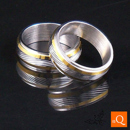 $enCountryForm.capitalKeyWord Canada - 60pcs lot 18K GP Gold Plated Silver Tone Nice Ring Stainless Steel Ring Fine Fashion Jewelry Rings