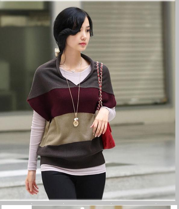 2018 Stylish Women's V Collar Bat Sleeve Sweater Women's Sweater ...