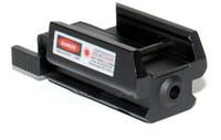raylı kırmızı nokta lazer toptan satış-Kırmızı Nokta Lazer Sight ile 20mm Kısa Weaver Rail Bankası Dağı BK 100% iyi qulity
