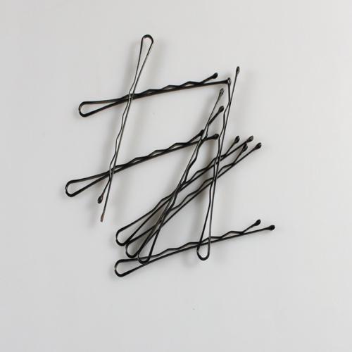 Vente en gros - - Fashion 50pcs nouveau pinceau noir ondulé bobby épingle