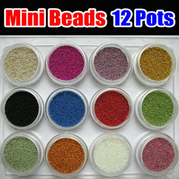 caviar beads Australia - 1Box 12 Colors Nail Art Mini BEADS Bean Bearing for Caviar Nail Polish 3D UV Gel Acrylic Manicure Glitter Decoration Tips NEW