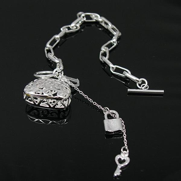 Wholesale - Retail lowest price Christmas gift, new 925 silver fashion Bracelet h206