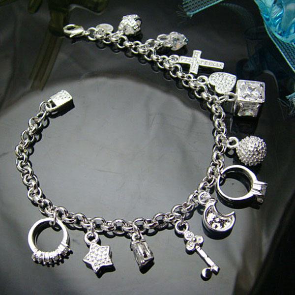 Großverkauf - Niedrigster Preis des Kleinhandels Weihnachtsgeschenk, freies Verschiffen, neues 925 silbernes Art und Weise Armband yBh144