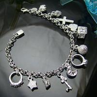 bracelet en argent au détail achat en gros de-Vente en gros - Prix de détail le plus bas prix de Noël, livraison gratuite, nouveau bracelet de mode en argent 925 yBh144