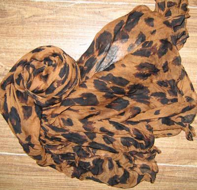 Foulard imprimé léopard pour femme Foulard châle écharpe de cou Foulard Fashion / # 1558