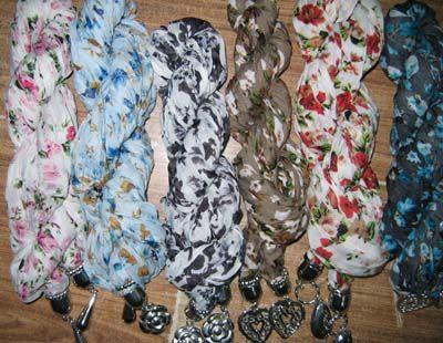 Non marque Wrinkle bijoux écharpe Fashion bijoux cou écharpes SCARVES / # 1583