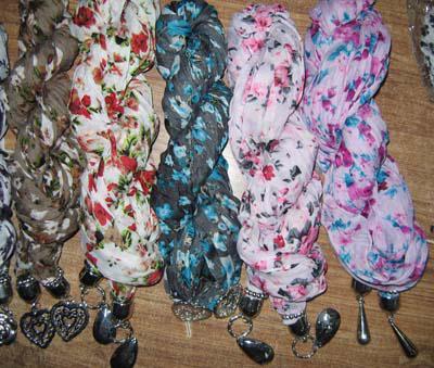Nicht Marke Wrinkle Jewelry Schal Modeschmuck Halstücher Schals / # 1583