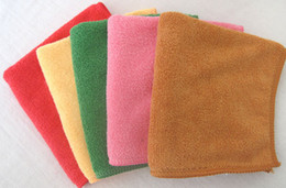 Wholesale Microfiber Towels For Hair - 200pc lot 30cm*30cm Microfiber cleaning cloth Towel , bath towel,Travel Camping Towels multipurpose many colors for choose
