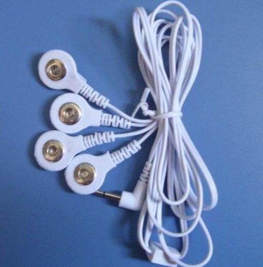 Máquina digital de la terapia de la acupuntura de los diez 4 cojines + cuatro alambres del sujetador, masa del Massager de la terapia del músculo