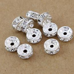 Envío gratis 8 MM, 1000 unids / lote, accesorios de hallazgos de joyería de moda (B Rhinestone) / perlas espaciadores / CALIENTE