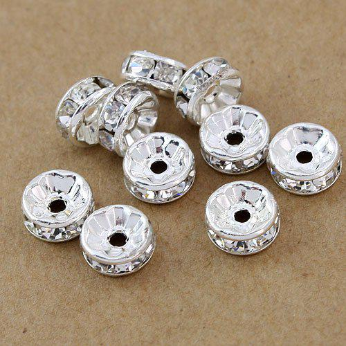 best selling Free shipping 8MM,1000pcs lot,Fashion Jewelry Findings & Accessories(B Rhinestone) beads Spacers HOT