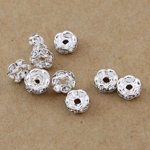 top popular Free shipping 8MM,1000pcs,Fashion Jewelry Findings & Accessories(B Rhinestone) beads Spacers HOT 2021