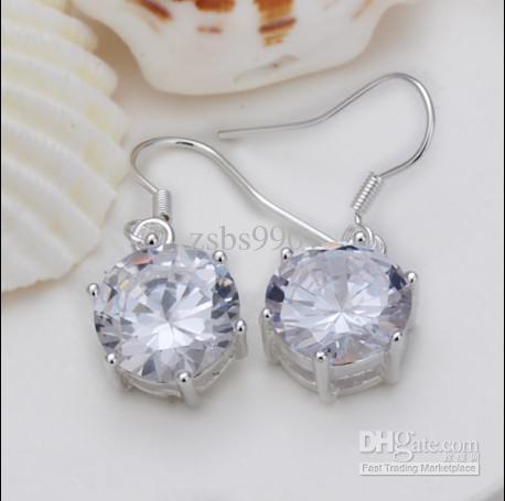 Hot nuovi orecchini da donna in argento 925 gioielli moda in argento 20 paia / lotto
