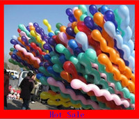 Wholesale Spiral Latex Screw Balloon - Latex Colour Mixture Screw Balloon Spiral Balloons balloons tower defence for Wedding Birthday Party