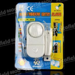 Wholesale Door Entry Sensors - DHL free Hot Sale 100PCS   Lot Wireless Magnetic Sensor Door Window Entry Safety Security Burglar Alarm Bell