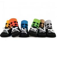 sapato de meia bebê fofo venda por atacado-Bebê bonito Meias antiderrapante meias das crianças 'sock meias' baby baby sock boys 'meias 6 cores FF116