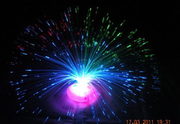 Wholesale Wholesale Fiber Optic Lighting Supply - 7 Colour Fiber Optic Light Party Supplies Optical Fiber Flower Children's Toys,flash Flowers