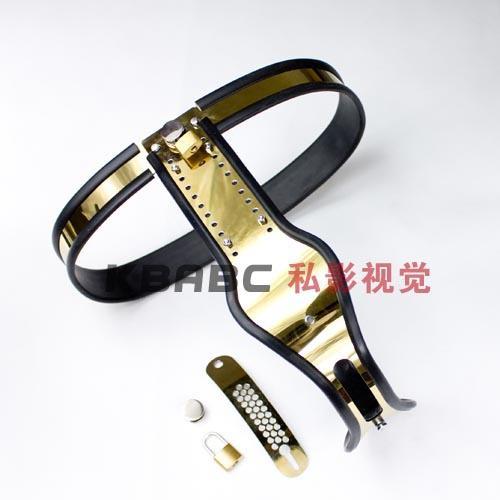 Model-T Titanium Female Adjustable Premium Chastity Belt with One Locking Cover Removable
