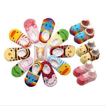 Lovely Baby cotton Stocking ankle socks Christmas Colorful Anti-skidding