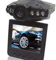 Wholesale H 264 Car Black Box - HD car camera car DVR H.264 wide angle 270 degree rotation 2.5 LCD 6 IR night vision car black box
