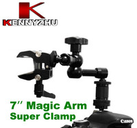 DSLR Rig 7 '' Articulating Magic Braccio + Piccolo Morsetto Super 1/4 '' 3/8 '' Filetto per Monitor DSLR Led Lcd Field Monitor