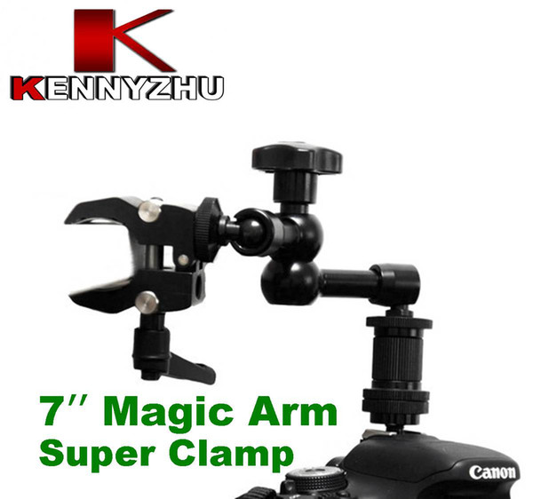 DSLR Rig 7'' Articulating Magic Arm + Small Super Clamp 1/4'' 3/8'' Thread For DSLR Camera Led Light Lcd Field Monitor