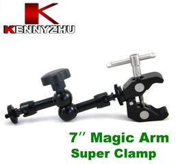 Wholesale Cameras Rig Lcd Monitor - Articulating Magic Arm 7'' Inch + Large Super Clamp 1 4'' 3 8'' For DSLR Camera Rig Led Light Lcd Field Monitor