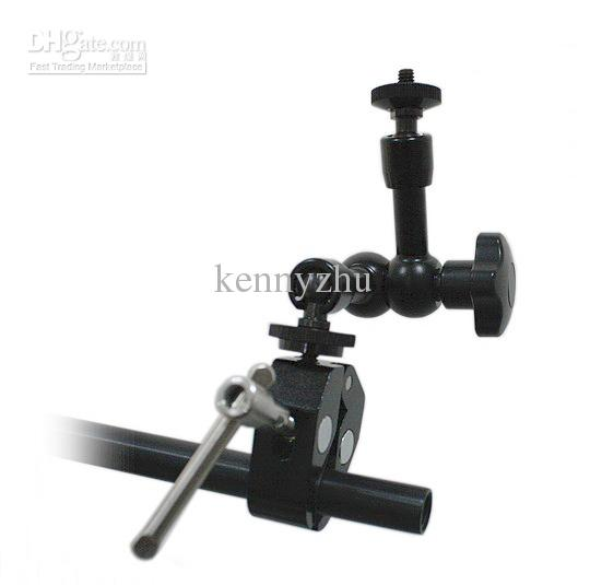 Articulating Magic Arm 7 '' Inch + Large Super Clamp 1/4 '' 3/8 '' DSLR Camera Rig Led Light Lcd Field Monitor