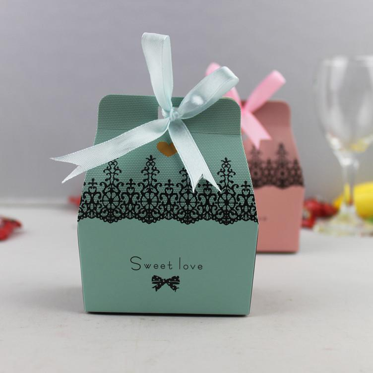 Wholesale-Pink Christmas Party Favor Box Gift Box Candy Box Decor-Hot Sell