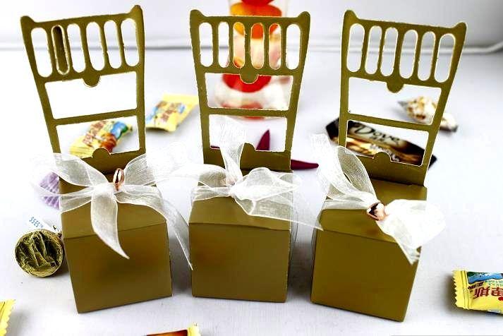 Darmowa Wysyłka-Hurtownie-50 sztuk Srebrny Boże Narodzenie Party Favor Box Pudełko Cukierki Box Decor-Hot Sprzedaj