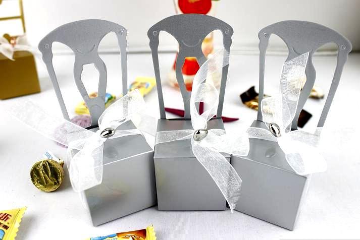 Darmowa Wysyłka-Hurtownie-50 sztuk Różowy 2 Sztuk Boże Narodzenie Party Favor Box Pudełko Cukierki Box Decor Sprzedaj