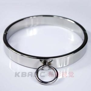 Male Luxury Stainless Steel Heavy Duty Collar / Thick Iron Locking Collar Mirror Polished