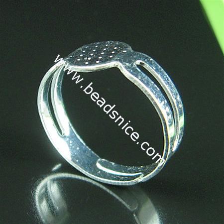 BeadSnice ijzeren verstelbare ringbasis met 8x7,5 mm pad ring spaties voor kostuum sieraden ID 4831