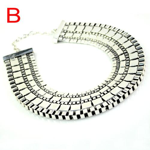 Exaggerate vintage golden / silver plated alloy jewelry oversize steampunk collar watch chains type choker necklace NL-1539