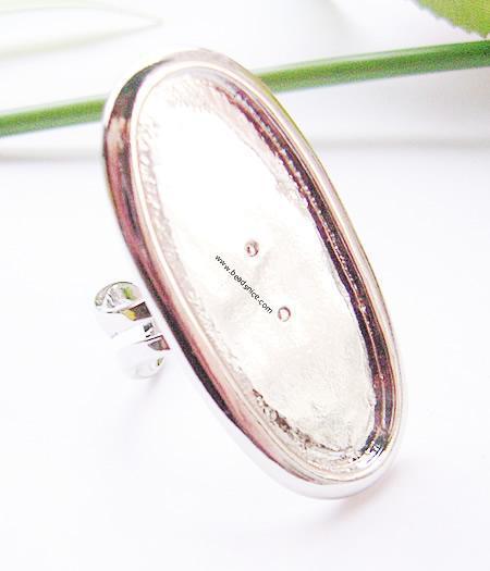 Anello per gioielli, ottone, 22X43MM, diametro interno 16.5X39mm, ID: 1875
