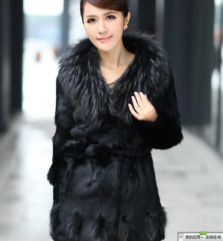 2017 2014 Cheap Fox Fur Women's Fur Coats Rabbit Hair Long Money ...