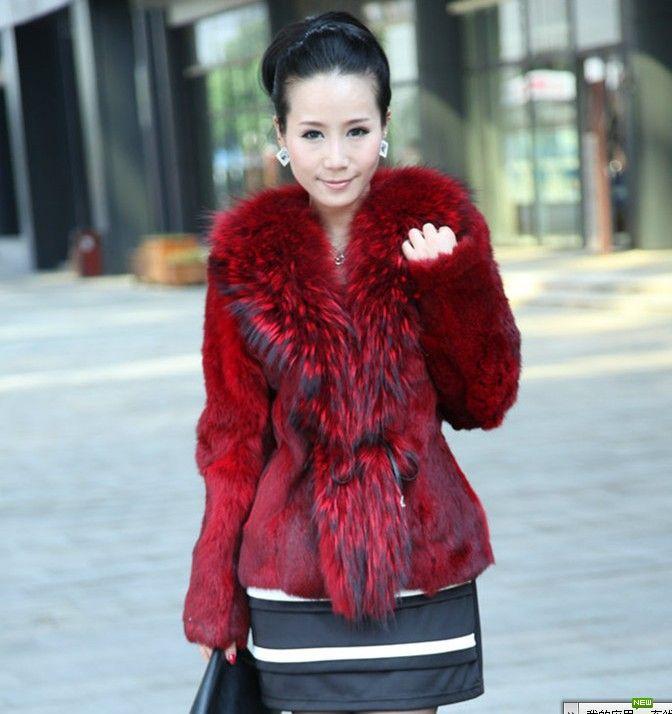 2018 Cheap Fox Fur Women's Fur Coats Lady Fur Pi Cao Trench Coat ...