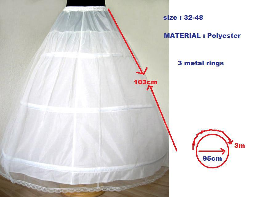 New Crinoline Petticoat White Polyester Underskirt For Wedding Dress Bridal Ball Prom Formal Party Gowns WPL390