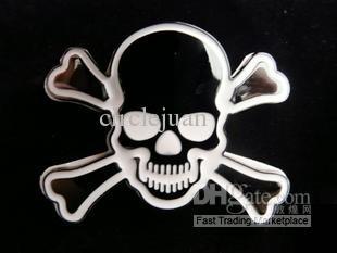 30PCS/LOT Car sticker Motorcycle decals 3d Metal Car Decals Skull Fuel Tank Sticker Bumper Stickers