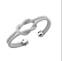 Wholesale Silver 925 Knot Bracelet - The trend of net new 925 silver knot bracelet as a gift for 10 Piece   Lot