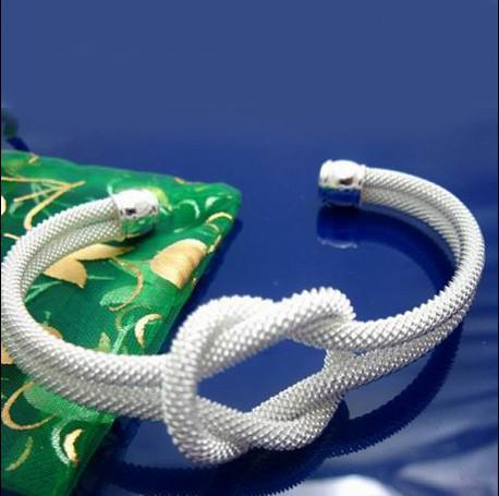 Trend New New New 925 Silver Knot Bransoletka jako prezent na 10 sztuk / partia
