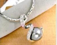 ingrosso bianco perla rosa nera-nuovo oro bianco 18 carati PLACCATO uso cristallo Swarovski Nero bianco rosa perla Collana