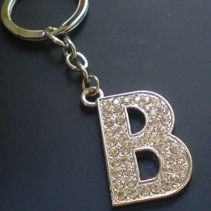 Zinc Alloy Keychain with Letter B Charm 1754a3ae66
