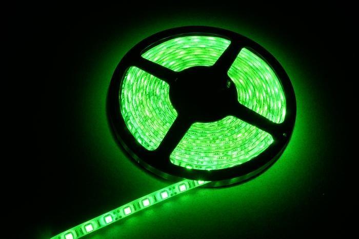 25m 5050 SMD Green Flexible LED Strip Light 5m 300LED Waterproof led strip 60led/m no Power Supply