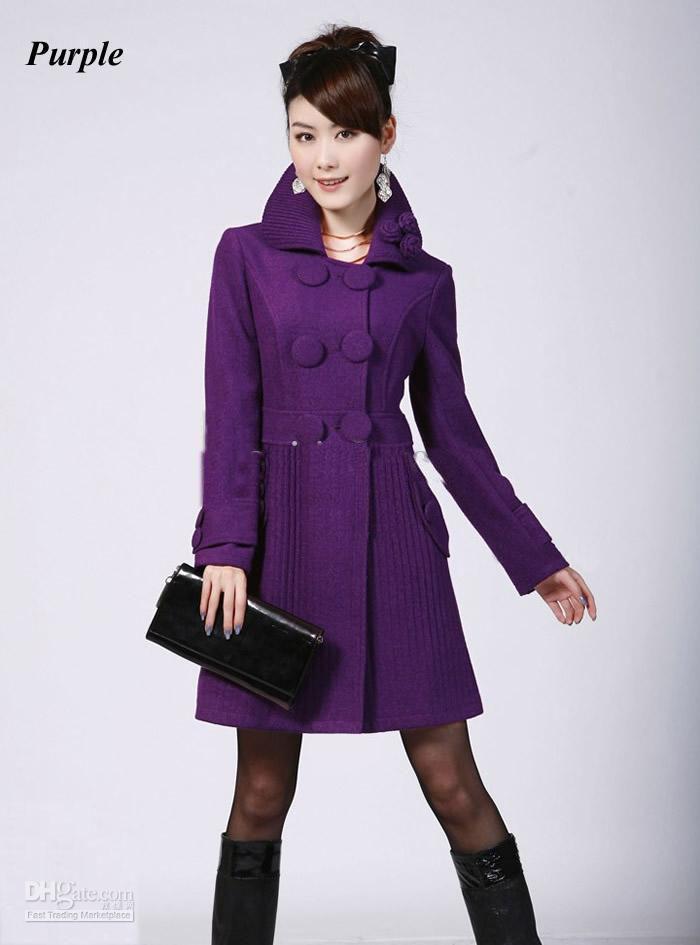 2018 2012 Fashion Women's Ladies Wool Trench Coat New Fashion ...
