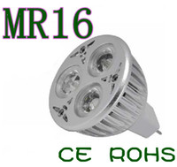 Wholesale Led Mr16 Base - On sales Led Spotlight 12V 3x2W MR16 6W LED ceiling down light bulb lamp also have GU10 E27 base