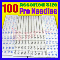 Wholesale Mixed Liner Needles - Solong Tattoo Lots 100Pcs Disposable Sterile Tattoo Needles for tattoo Assorted Shader and Liner Mixed Size TN-100